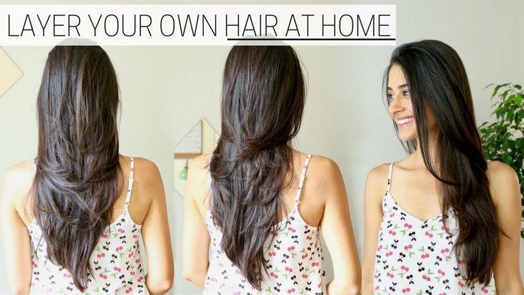 How I Cut Amp Layer My Hair At Home 187 Diy Long Layers