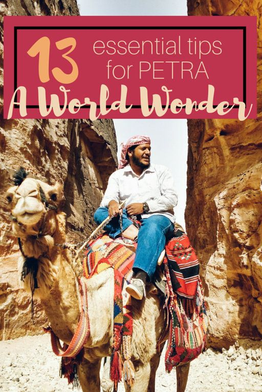 13 essential tips for traveling Petra Jordan! You've probably heard of Petra, one of the new wonders of the World and the filming site of many movies (like Indiana Jones)! But a lot of people don't know what it involves to tour Petra. I wanted to put together some essential tips for visiting Petra so you're well prepared. The more prepared you are the better the experience will be.  These huge sandstone carvings in Wadi Musa are on every travelers bucket list.