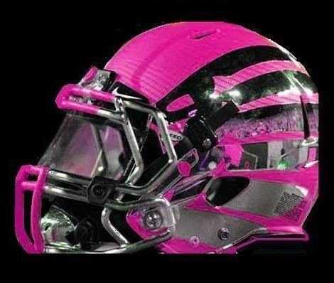 Another variation of the Oregon helmet. Breast Cancer Awareness!!!