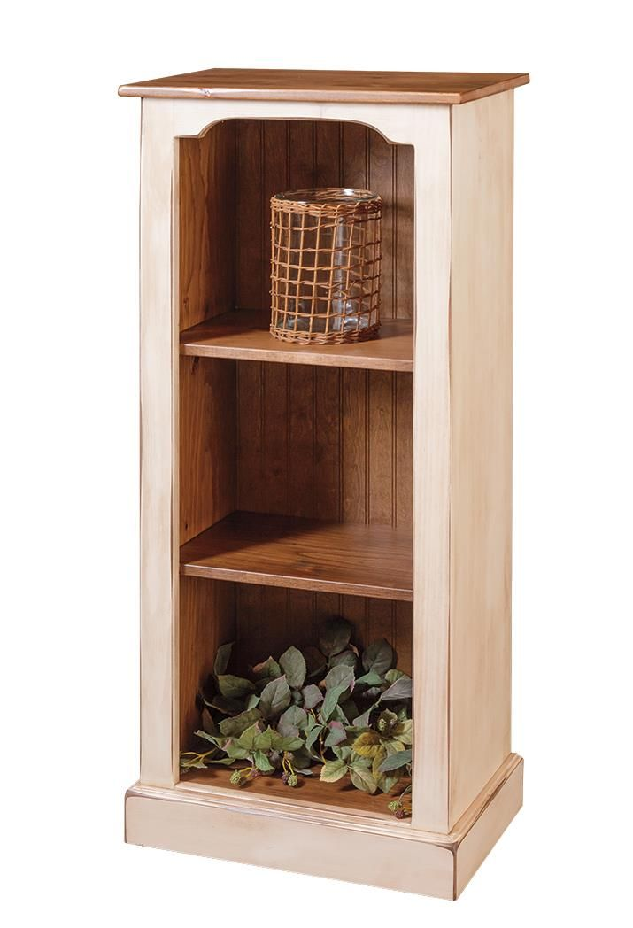 Amish Pine Narrow Bookcase Country Style Furniture Diy