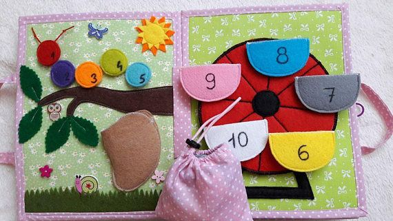 Personalized Quiet Book Busy Book Activity Montessori