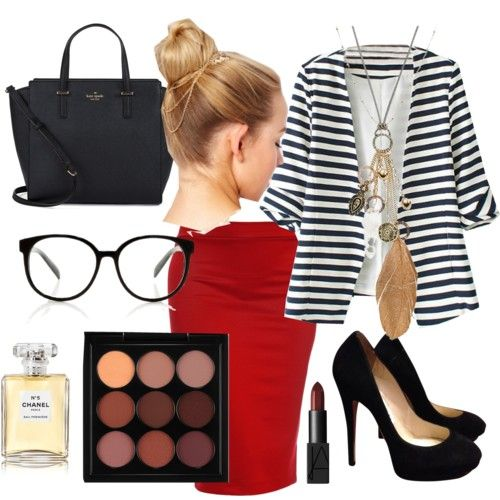 who says, a bussines women can not be so attractive? by atania1390 on Polyvore featuring polyvore beauty MAC Cosmetics NARS Cosmetics Chanel Mudd Kate Spade Jimmy Choo