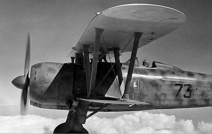 Fiat CR.42, pilot Ernesto Botto, Africa 1940
