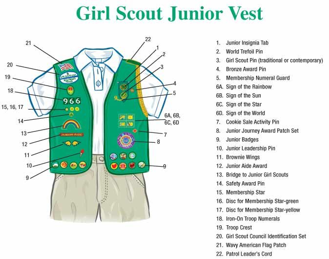 central girlscout 41020: Junior Girl Scout Vest