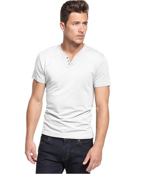 Men S Stretch Solid Henley T Shirt Created For Macy S In 2018
