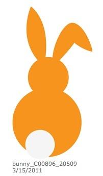 Silueta conejo