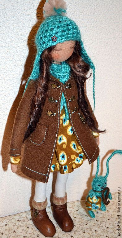 Купить Бирюзовые Мечты - кукла ручной работы, подарок на любой случай, ручная работа