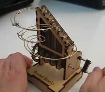 Wooden Automata Hand Crank Hand Cranked Mini Ball Track