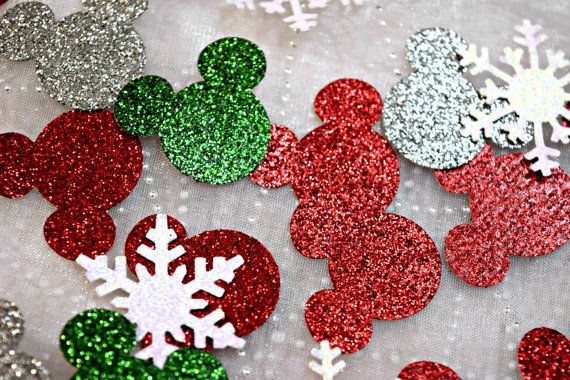 snowflake Xmas christmas table confetti decoration card embellishment craft