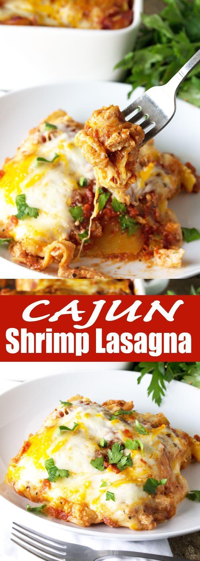 Cajun Shrimp Lasagna | The Stay At Home Chef