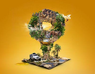 """Consulta este proyecto @Behance: """"Zoo Safari""""…"""