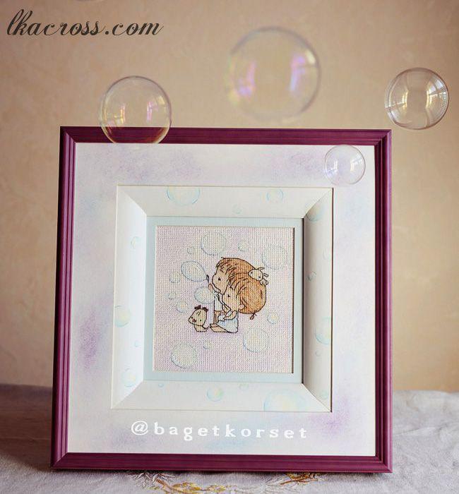 "Cross stitch pattern ""Soap bubbles""."