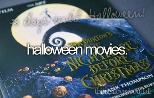 things i love about fall - halloween movies