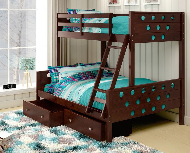 kids bunk beds with storage drawers