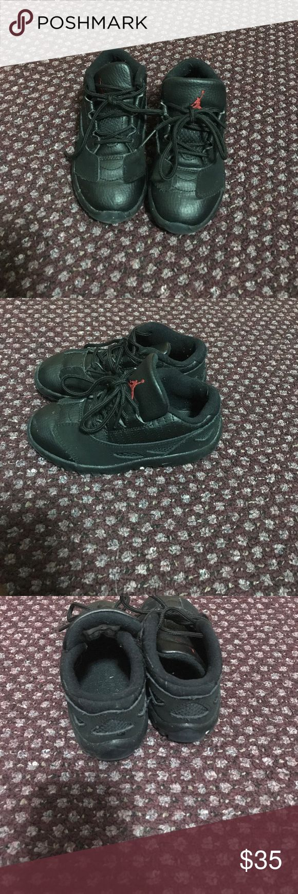 Toddler Jordans Good condition. All black so they can be worn with anything. Jordans Shoes Sneakers