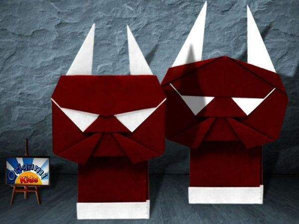 halloween ogres by keji kitamurai happy halloween everybody another origami model for halloween these ogres will make great halloween decorations