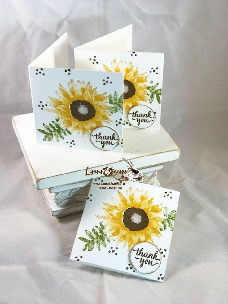 "3""x 3"" Sunflower cards"