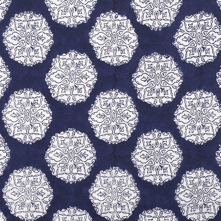 John Robshaw Fabrics: Ananda Indigo From @John Robshaw Textiles