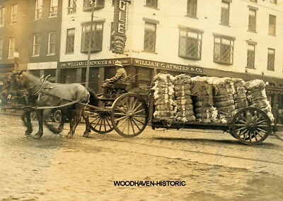 1916--Bales of cotton going to cotton mill-- Fall River, Ma.