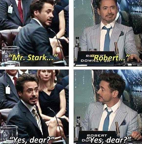 Further evidence that Tony Stark and Robert Downey Jr. are exactly the same