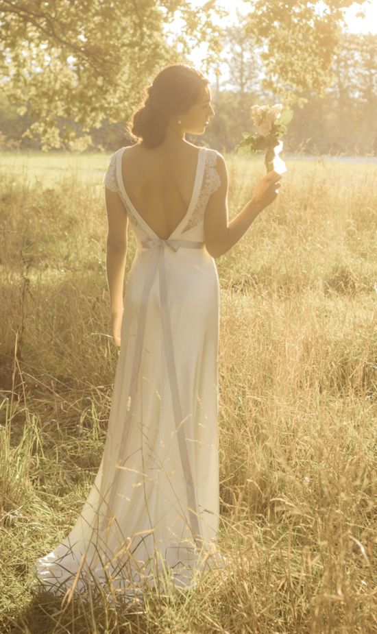 wedding dresses with polka dots | ... modern wedding gowns003 Rose & Delilah Vintage Inspired Wedding Gowns