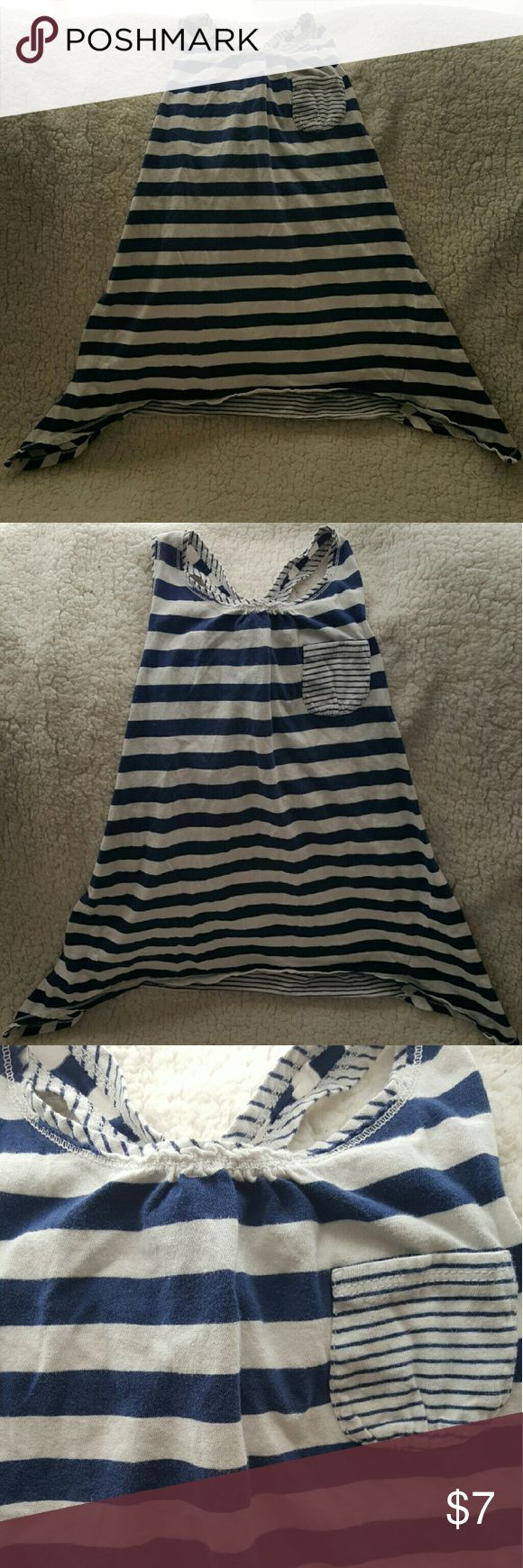 Navy blue and white stripes tank top Nave blue and white striped tank top. No rips stains or tears. american living  Tops Tank Tops