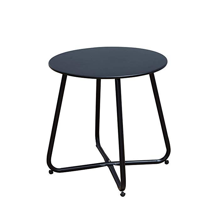 Grand Patio Steel Patio Coffee Table Weather Resistant Outdoor
