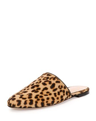 Leopard-Print+Calf-Hair+Slide,+Leopard+by+Gianvito+Rossi+at+Neiman+Marcus.