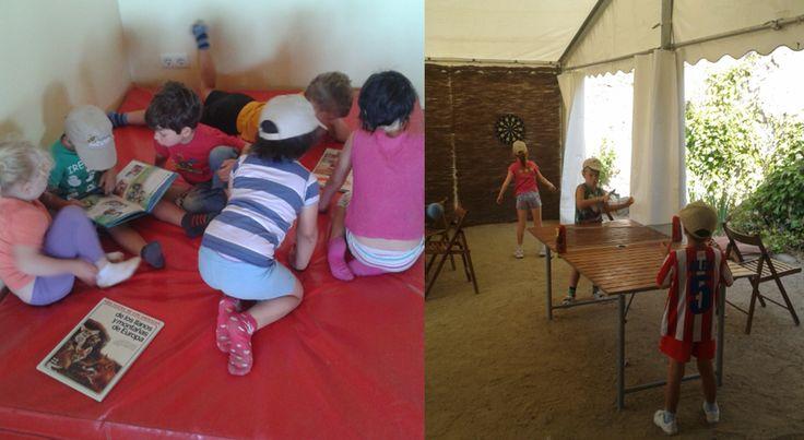 Escuela de verano del Aula Apícola Sierra de Hoyo. Juegos libres.