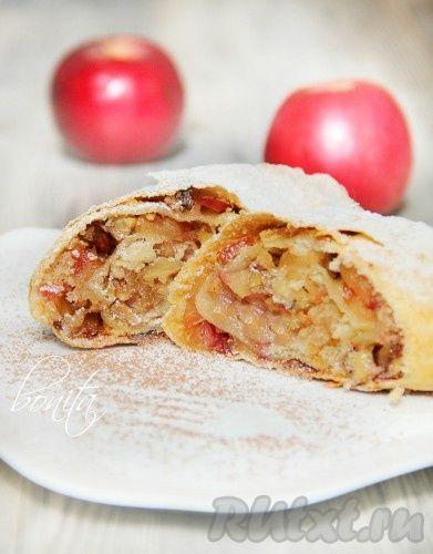 Как приготовить яблочный штрудель