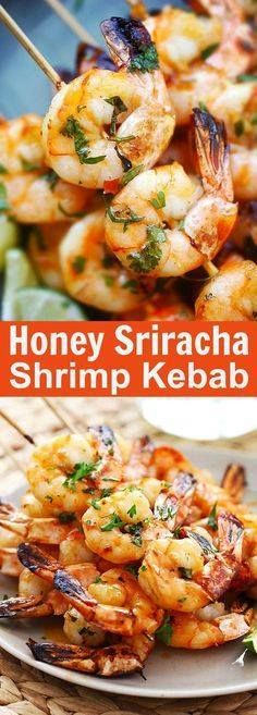 Honey Sriracha Shrim Honey Sriracha Shrimp Kebab  crazy...  Honey Sriracha Shrim Honey Sriracha Shrimp Kebab  crazy delicious shrimp kebab with honey Sriracha butter. Thread shrimp on skewers and grill so easy | rasamalaysia.com Recipe : http://ift.tt/1hGiZgA And @ItsNutella  http://ift.tt/2v8iUYW