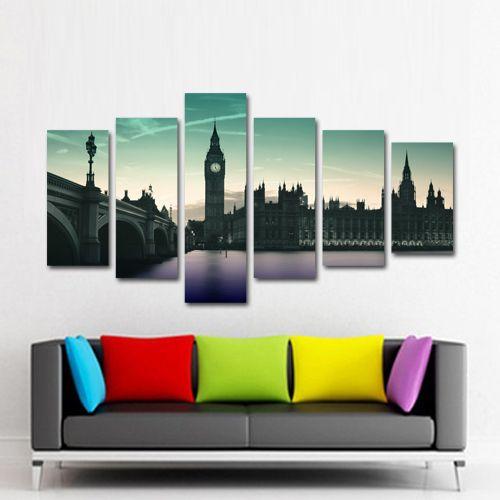 #Tablouri_canvas din 6 piesa: 1 buc x 25 x 85 cm.2 buc x 25 x 65 cm.2 buc x 25 x 55 cm.1 buc x 25 x 45 cm.Suprafata totala : 165 x 90 cm.
