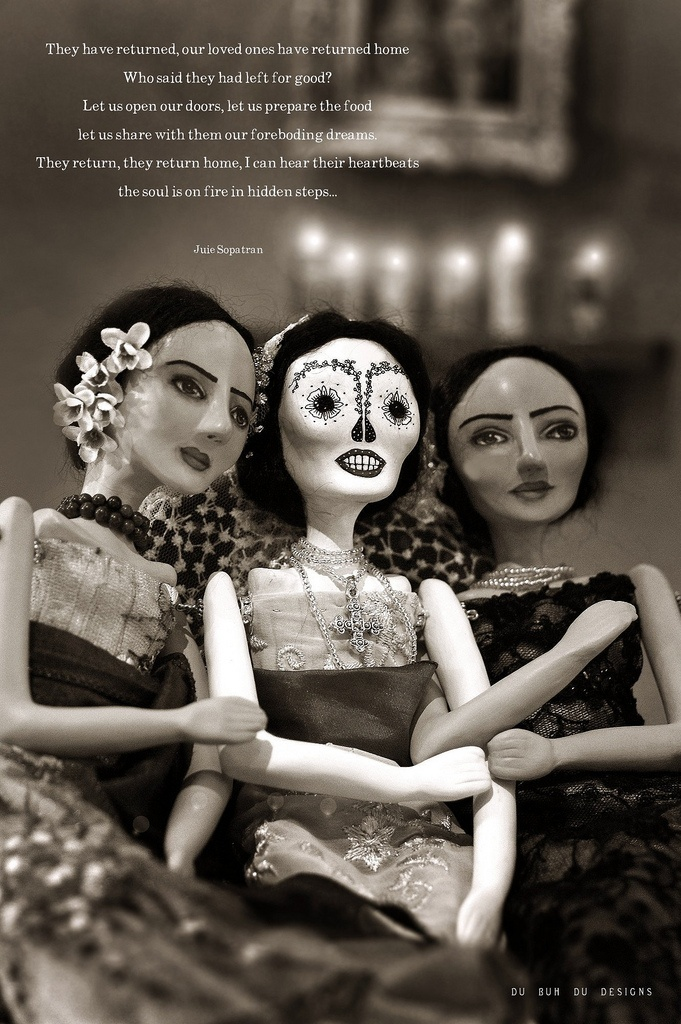 Sisters Day of the Dead celebration dubuhdudesigns.: