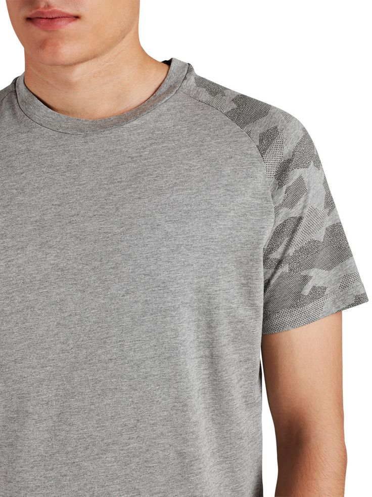 CAMOUFLAGE T-SHIRT, Light Grey Melange