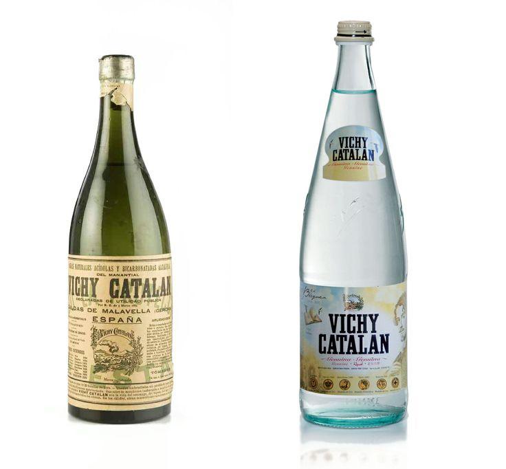 Vichy Catalán antes y después. La evolución de la botella de Vichy Catalán.