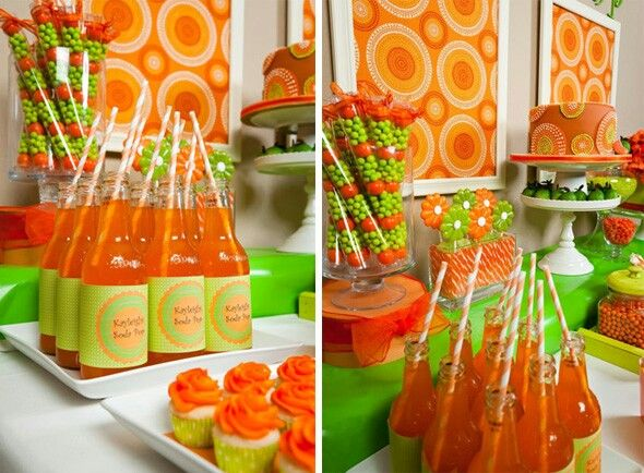 Orange and green dessert bar The Green Flash Wedding106 best Orange Party images on Pinterest   Orange party  Birthday  . Orange And Lime Green Wedding Theme. Home Design Ideas