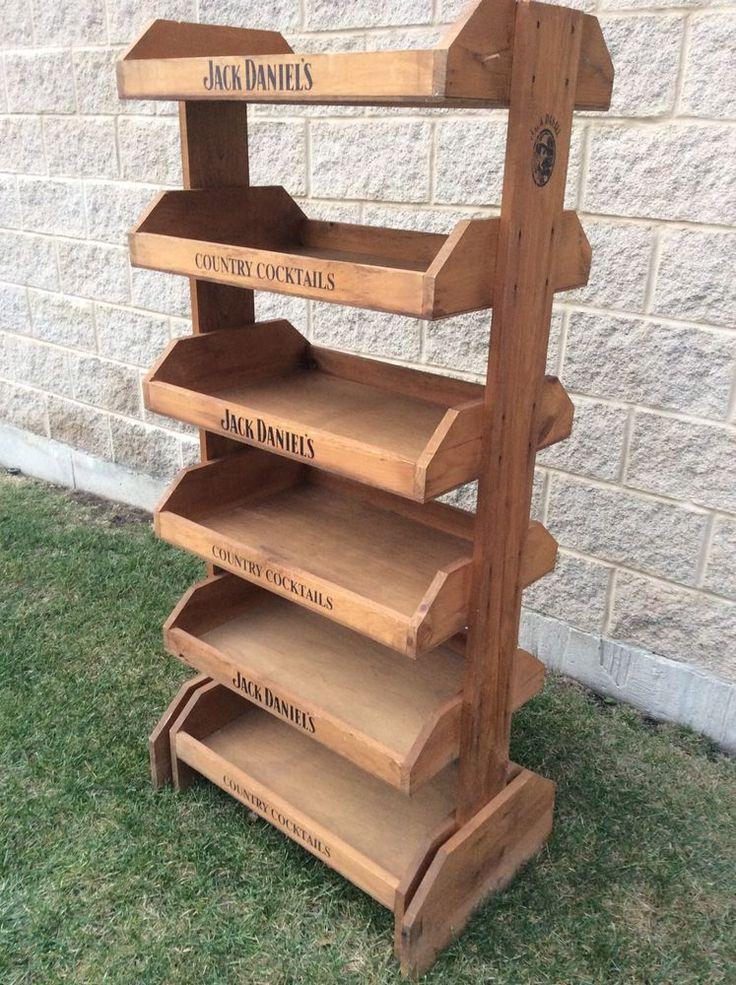 Wooden Display Shelf ~ Jack daniels wooden display shelf shelves