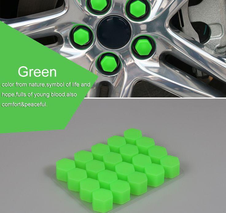 17/19/21 Silikonowe Car Wheel Hub Bolt Nakrętka Dekoracji Cap Pokrywa Car Styling Ochronna 20 sztuk/partia wysokiej Jakości