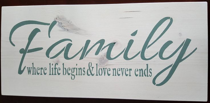 Family by akawoodsigns on Etsy