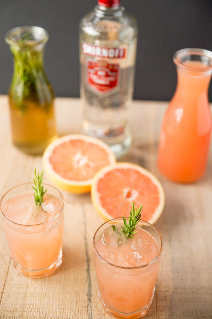 Rosemary Greyhound Cocktail Recipe - vodka and grapefruit juice with a rosemary infused simple syrup.