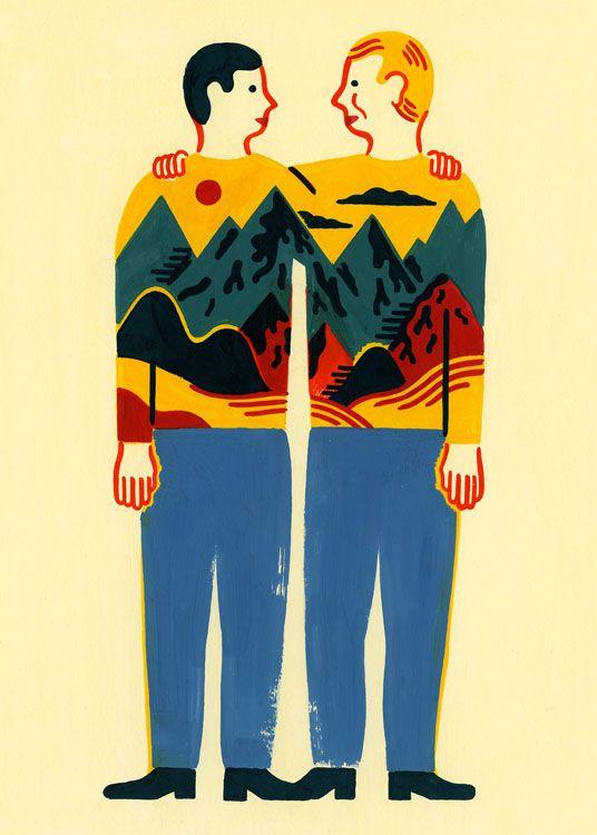 In Psycho Veritas by Laurent Moreau #illustration
