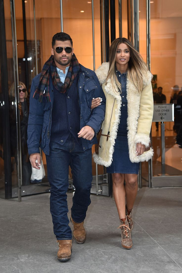 Russell Wilson with his fiance visiting New York for NYFW (New York Fashion Week)