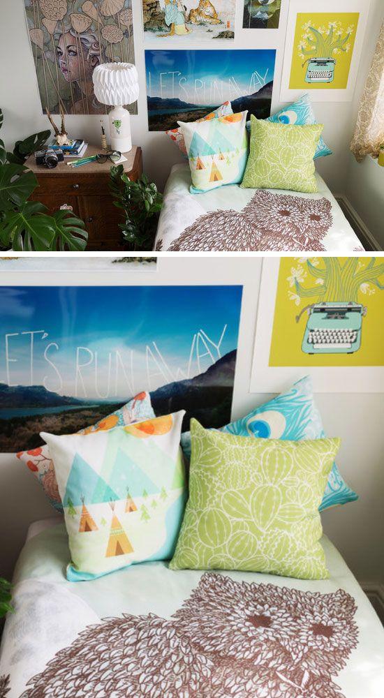 Relaxing Earthy Prints  Click Pic for 21 DIY Bohemian  ~ 131045_Earthy Dorm Room Ideas