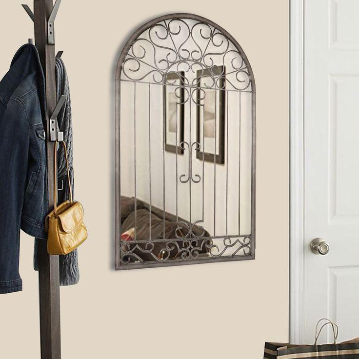 Inilah cermin dekoratif luar biasa untuk lorong, kamar tidur, kamar mandi atau di manapun. Bingkai cermin dan facia terbuat dari baja yang dibuat dengan tangan menjadi gulungan dan batang hiasan, dan memiliki pernis bening yang diaplikasikan untuk mencegah korosi. Sebuah kaca cermin dipasang di balik gulungan. Desain yang menyerupai romantisme industri, dan menyerupai gerbang taman atau grill jendela. Beli secara online hanya di W-Home.    Klik di sini untuk membaca lebih lanjut tentang…