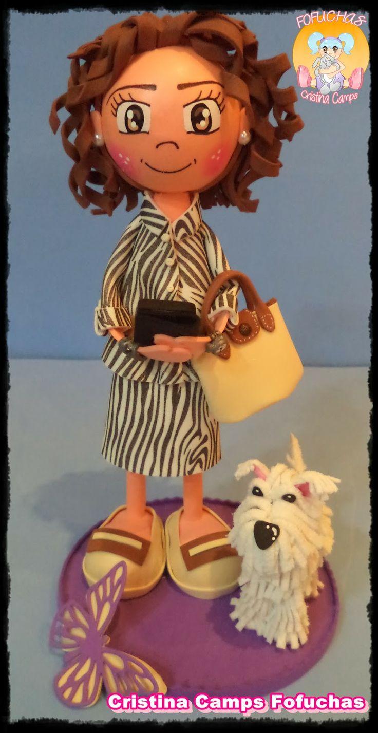 Cristina Camps Fofuchas: Fofucha con perro.