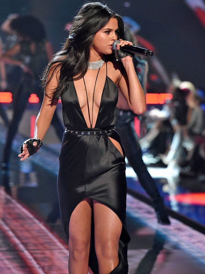 Selena Gomez performing at 2015 VS fashion show