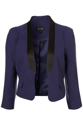 Navy Satin Collar Jacket - New In This Week - New In - Topshop USA - StyleSays