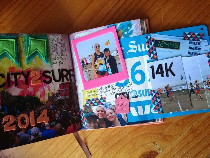 art journal inspiration - running