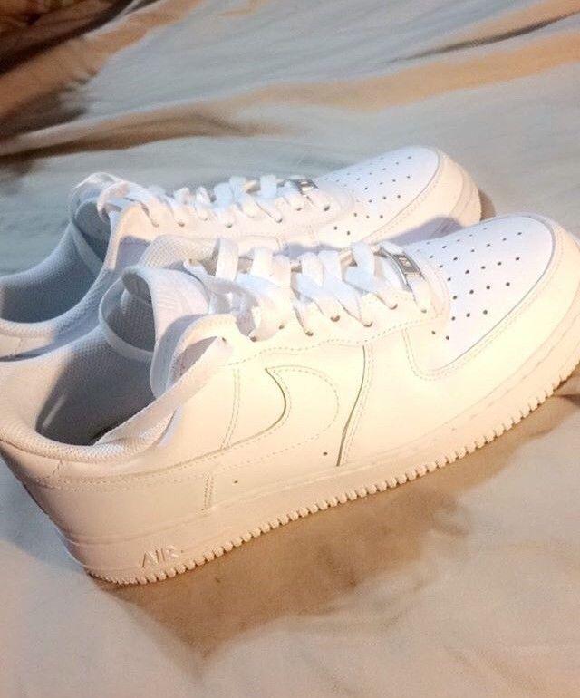 0ec671cbc780e Men Size 8 All White Air Force Ones #fashion #clothing #shoes ...