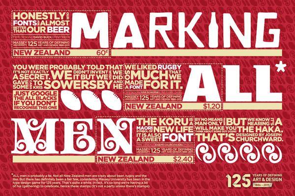 Marking All Men - Stamp Collection by Scott Wilson, via Behance